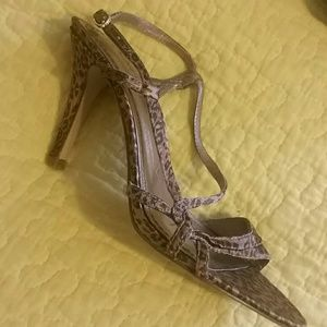 Nine West Satin Sandals  (worn once )